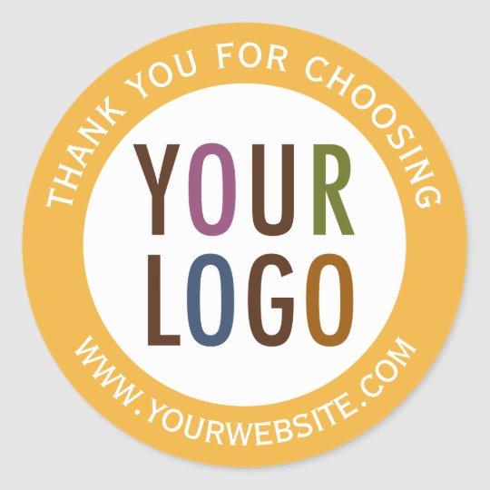 Round Thank You Stickers Businesskart 2021