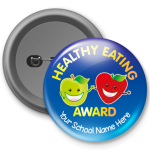 Healthy Eating Award - Customized Button Badge